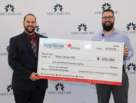 NCISD Gets Check From Entergy Solutions Program