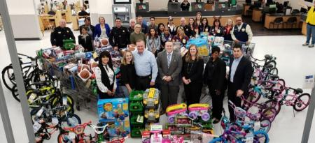 Operation Blue Elf Gathers Toys For Area Kids