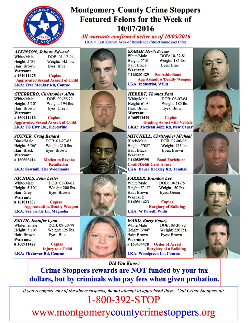 Crime Stoppers Featured Felons