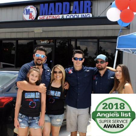 Madd Air Earns 2018 Angie's List Super Service Award